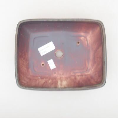 Keramische Bonsai-Schale 20 x 15,5 x 5 cm, braune Farbe - 3