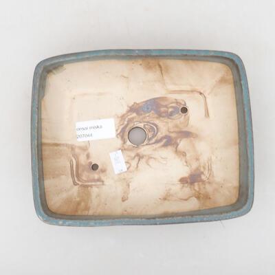 Keramische Bonsai-Schale 20 x 15,5 x 5 cm, Farbe blau - 3