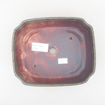 Keramische Bonsai-Schale 16,5 x 14 x 5,5 cm, graue Farbe - 3