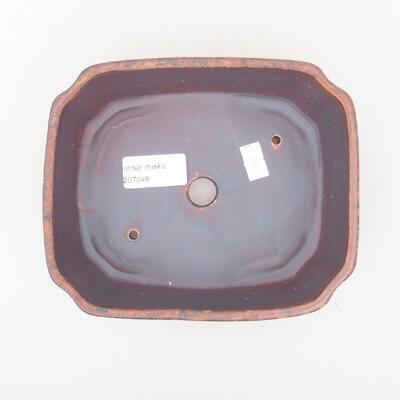 Keramische Bonsai-Schale 16,5 x 14 x 5,5 cm, braune Farbe - 3