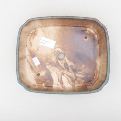 Keramische Bonsai-Schale 21 x 17,5 x 5,5 cm, Farbe blau-braun - 3