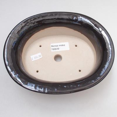 Keramische Bonsai-Schale 19 x 15 x 6 cm, Farbe schwarz - 3