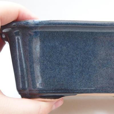 Keramische Bonsai-Schale 17,5 x 13 x 6 cm, hellblaue Farbe - 3