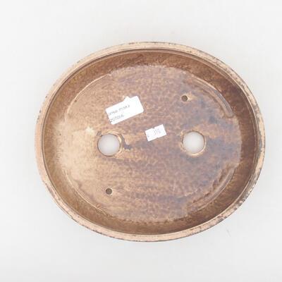 Keramische Bonsai-Schale 22,5 x 20 x 5 cm, braune Farbe - 3