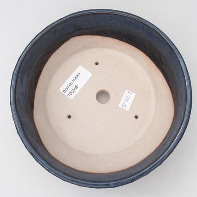 Keramische Bonsai-Schale 17,5 x 17,5 x 5,5 cm, Farbe blau - 3