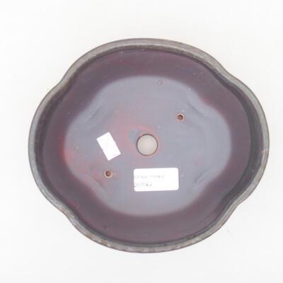 Keramische Bonsai-Schale 18 x 16 x 6 cm, Farbe braun - 3