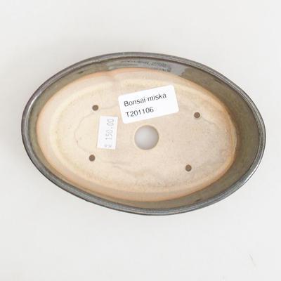 Bonsai-Keramikschale 14,5 x 9 x 3,5 cm, Farbe grün - 3