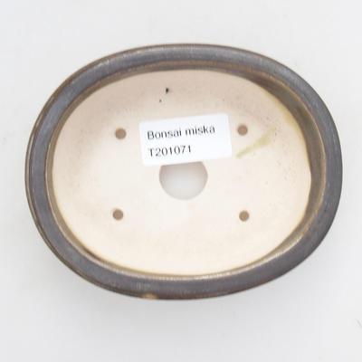 Keramische Bonsai-Schale 11,5 x 9,5 x 3 cm, Farbe grün - 3