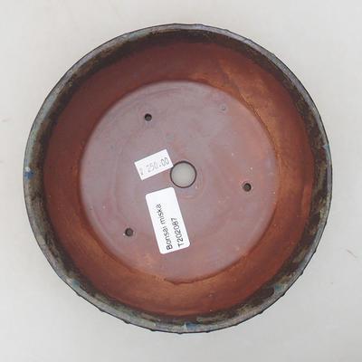 Keramische Bonsai-Schale 17 x 17 x 4,5 cm, graue Farbe - 3