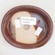 Keramische Bonsai-Schale 12 x 10 x 2,5 cm, braune Farbe - 3/4