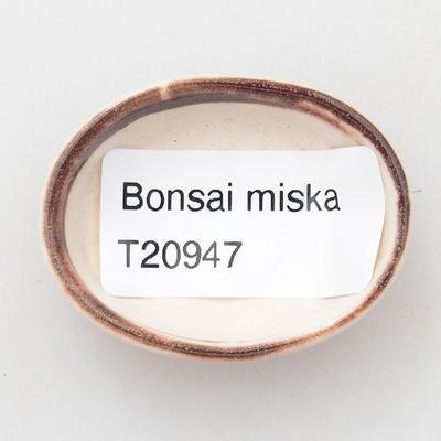 Mini Bonsai Schüssel 4,5 x 3,5 x 2 cm, Farbe rot - 3