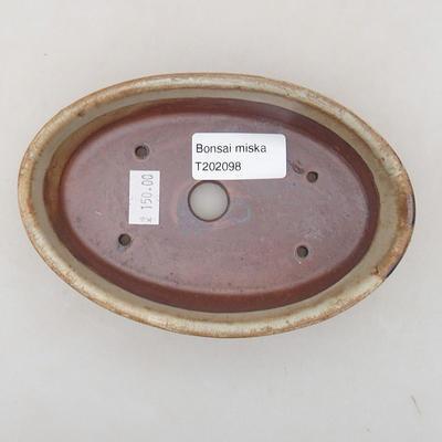 Keramische Bonsai-Schale 14 x 9,5 x 4 cm, beige Farbe - 3