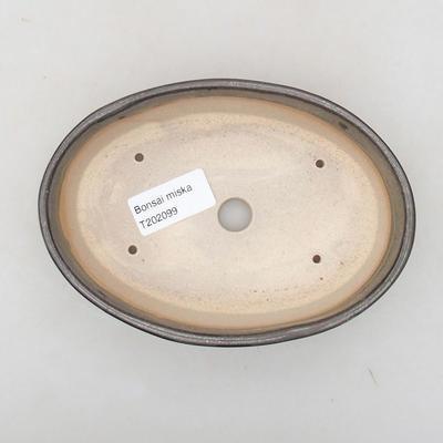 Keramische Bonsai-Schale 16 x 11,5 x 4 cm, Farbe grün - 3