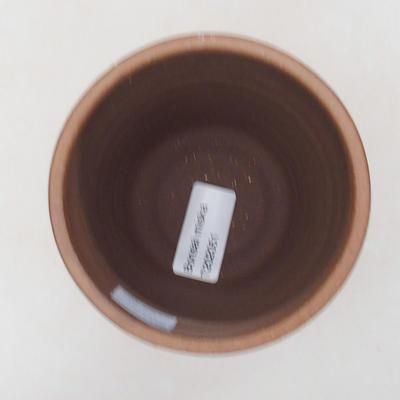 Keramische Bonsai-Schale 10 x 10 x 9,5 cm, Farbe braun - 3