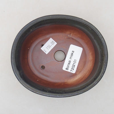 Keramische Bonsai-Schale 12 x 10 x 5 cm, graue Farbe - 3