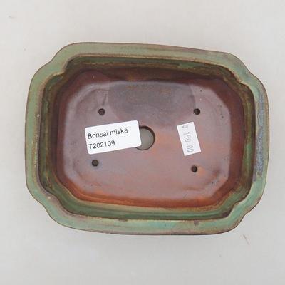 Keramische Bonsai-Schale 15 x 11,5 x 4,5 cm, Farbe grün - 3