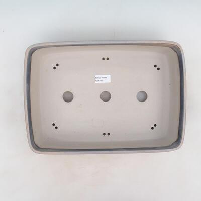 Bonsai-Schale 37 x 26 x 9,5 cm, grau-beige Farbe - 3