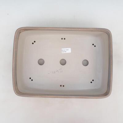Bonsai-Schale 37 x 26 x 10 cm, grau-beige Farbe - 3
