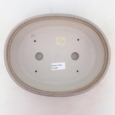 Bonsai-Schale 26 x 20 x 7,5 cm, grau-beige Farbe - 3