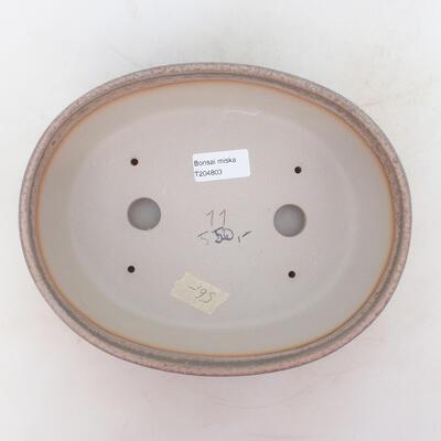 Bonsai-Schale 24 x 19 x 7 cm, grau-beige Farbe - 3