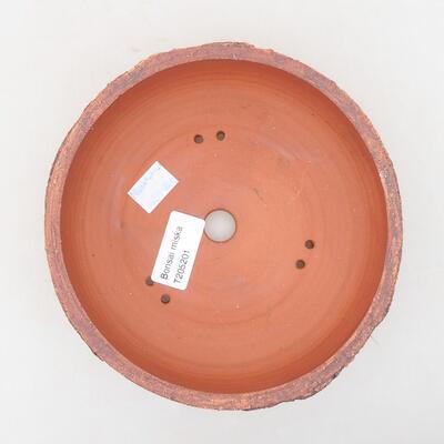 Keramische Bonsai-Schale 16 x 16 x 6 cm, Farbe rissig - 3