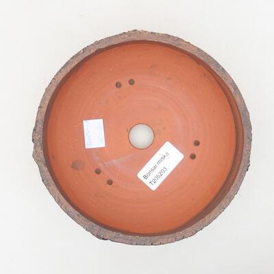 Keramische Bonsai-Schale 15 x 15 x 6 cm, Farbe rissig - 3