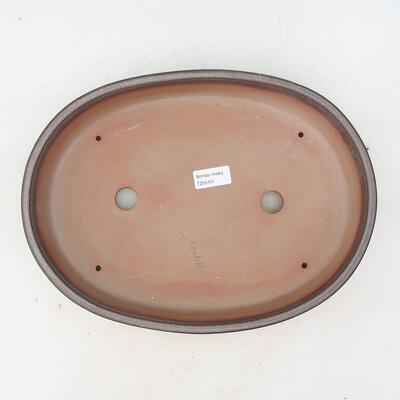 Bonsai-Schale 34,5 x 25,5 x 7 cm, braungraue Farbe - 3