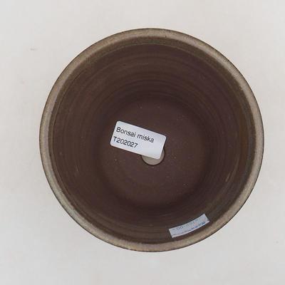 Keramische Bonsai-Schale 12,5 x 12,5 x 11 cm, braune Farbe - 3