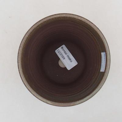 Keramik Bonsai Schüssel 10 x 10 x 13 cm, Farbe braun - 3