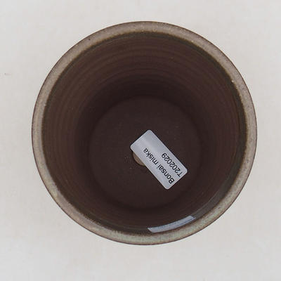 Keramische Bonsai-Schale 10,5 x 10,5 x 13 cm, braune Farbe - 3
