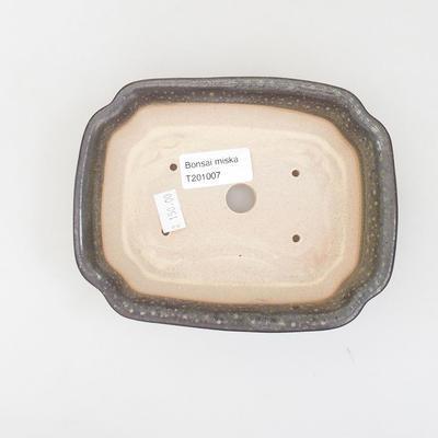 Keramische Bonsai-Schale 15,5 x 12 x 4,5 cm, Farbe grün - 3