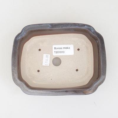Keramische Bonsai-Schale 15,5 x 12 x 4,5 cm, braune Farbe - 3
