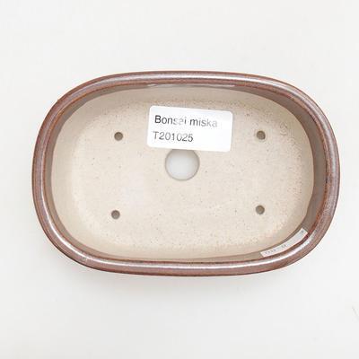 Keramische Bonsai-Schale 12,5 x 8,5 x 3,5 cm, braune Farbe - 3