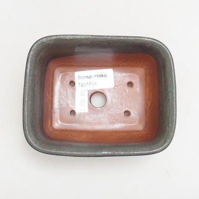 Keramische Bonsai-Schale 13 x 10 x 5,5 cm, graue Farbe - 3