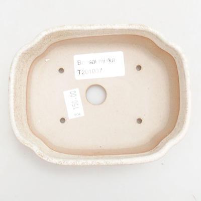 Bonsai-Keramikschale 12 x 9,5 x 4 cm, beige Farbe - 3