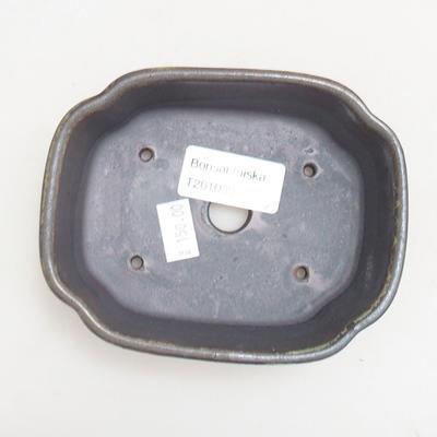 Keramik Bonsai Schüssel 12 x 9,5 x 4 cm, Metallfarbe - 3