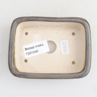 Keramik Bonsai Schüssel 11 x 8 x 3 cm, Farbe grün - 3