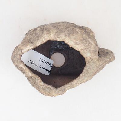 Keramikschale 6 x 5 x 6 cm, Farbe braun - 3