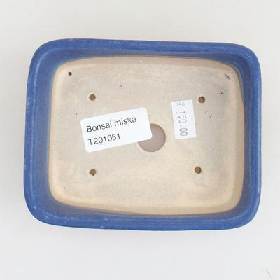 Keramische Bonsai-Schale 12 x 9,5 x 3,5 cm, Farbe blau - 3