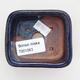 Keramische Bonsai-Schale 7,5 x 7 x 3 cm, Farbe blau - 3/4