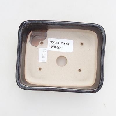 Bonsai-Keramikschale 12 x 9 x 3,5 cm, Farbe grün - 3