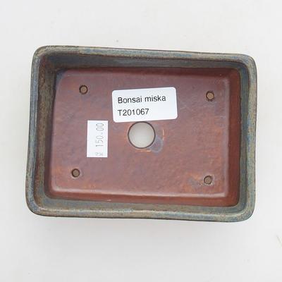 Keramische Bonsai-Schale 11,5 x 8,5 x 4 cm, Farbe blaugrau - 3