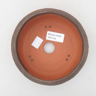 Keramik Bonsai Schüssel 15 x 15 x 6 cm, Farbe rissig - 3