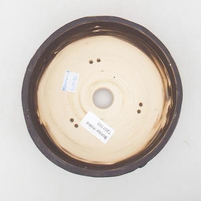 Keramische Bonsai-Schale 16 x 16 x 6,5 cm, Farbe rissig - 3