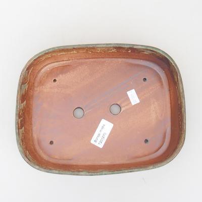 Keramische Bonsai-Schale 23 x 18 x 5 cm, Farbe braun-grün - 3