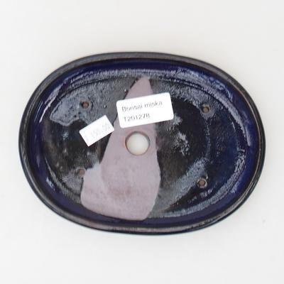 Keramische Bonsai-Schale 16 x 12 x 2 cm, Farbe blau - 3