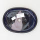 Keramische Bonsai-Schale 16 x 12 x 2 cm, Farbe blau - 3/4