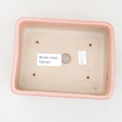 Keramische Bonsai-Schale 14,5 x 10,5 x 5 cm, rosa Farbe - 3