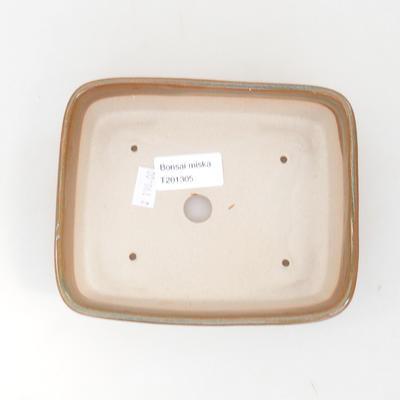 Keramik Bonsai Schüssel 15 x 12 x 4,5 cm, braune Farbe - 3