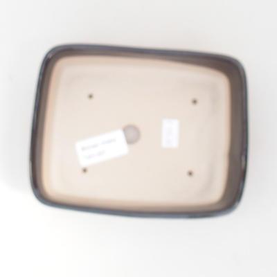 Keramische Bonsai-Schale 15 x 12 x 4,5 cm, Farbe braun-grün - 3